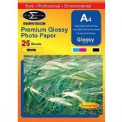 Sumvision A4 Premium Glossy Sumvision Inkjet Deskjet Photo Paper 180gsm 25 Sheets